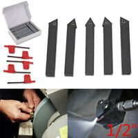 7 Inserts 2 Screwdriver in Fitted Box Lathe Tool for Cutting Chamfering F4-1-10mm 7Pcs Indexable Carbide Turning Tool Set