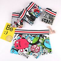 Women's Boxer Underwear Cute Cartoon Printed Knickers Lady Sports Shorts Briefs