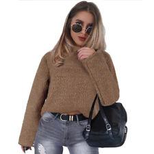 Womens Winter Fluffy Coats Fur Fleece Jacket Cardigans Jumper Pullover Outerwear