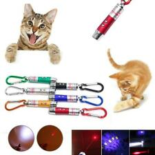 Laser Pen Mini 3 in1 Keychain Led Torch Lazer Pointer Cat Pet Toy Random Color