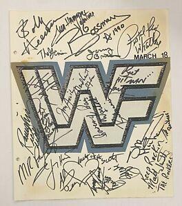WWE Wrestling Stars 21x Signed 11x14 WWF Album Page Hulk Hogan Bret Hart JSA LOA
