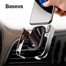 Baseus Qi Inalámbrico Cargador Automático Infrarrojo Abrazadera Soporte de coche para iPhone 11