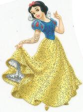 Snow White Glitter Iron On Transfer Patch Craft Embellishment T-Shirt