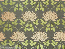 William Morris Curtain Fabric KELMSCOTT 9.5m Bullrush/Russet Weave Design 950cm