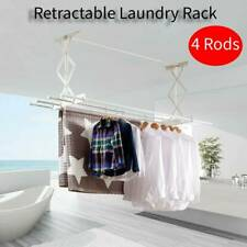 Retractable Lifter Wall Mount Laundry Hanging Cloth Wash Line Drying Dryer Rack