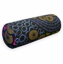 LL413g Blue Mustard Fushcia Black Green Cotton Canvas Yoga Bolster Cushion Cover