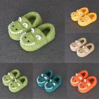 Toddler Boys Girls Winter Fluffy Little Kids Shoes Warm Cute Animal Home Slipper