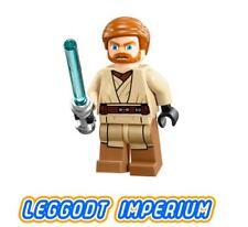 LEGO Minifigure Star Wars Obi-Wan Kenobi- sw449 Clone Wars Minifig FREE POST