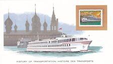 History of Transport USSR Riverboat Presentation Card VGC