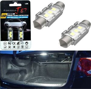LED 5W Light CANbus 6418 White 6000K Two Bulbs Interior Trunk Cargo Upgrade Lamp