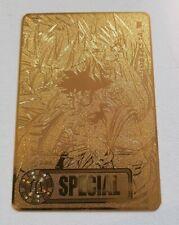 Carte Dragon Ball Z Spécial Sayen rare gold métal carddass