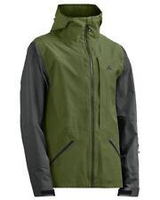 Strafe Nomad Ski & Snowboard Jacket - eVent - Pesto Green Pirate Black Men's XL