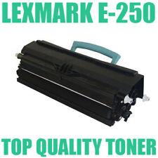1 x Lexmark E250 E250D E250DN E250A11P E350 E352 BLACK LASER Toner Cartridge NEW
