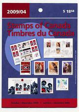 Weeda Canada 2009 October-December Quarterly Pack, sealed! Face value $21.61