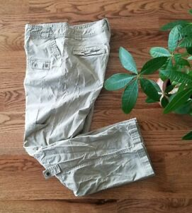 Columbia Hiking Fishing Outdoor Roll Up Cargo Pants Womens Size 10 Khaki Stretch