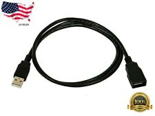 USB 2.0 Extension Extender Cable Cord Standard Type A Male to A Female M/F Black