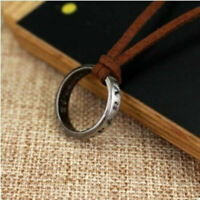 NEW Uncharted 4 Nathan Drake's Vintage Band Ring Leather Code Pendant Necklace