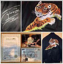 Sylvester Stallone Rocky Black Tiger Jacket Autografo Originale + Certificato