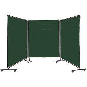 VEVOR 3 Panel Welding Screen 6' x 6' Welding Curtain Flame Retardant Frame Green