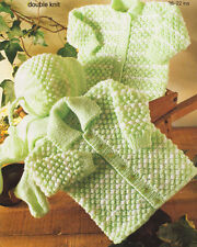 """Blackberry Stitch A Rayas Baby chaqueta Sombrero Leggings 16 """" - 22"""" Tejer patrón"""