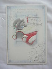 TO DAD FROM DAUGHTER & SON IN LAW CHRISTMAS CARD ME TO YOU TATTY TEDDY FROM BOTH