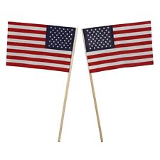 USA American Small Flags(2) Table Patriotic Decor