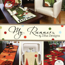 ** MY RUNNERS Quilt Applique Projects Disa Designs Christmas Easter Sunflower