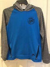 Head Youth Sz L 14-16 Blue & Gray Xcel Brazilian Jiu Jitsu Pullover Hoodie Guc