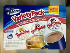 Hostess Variety Pack: Cappuccino & Hot Cocoa: Twinkies|Snowballs|Ding Dongs 30ct