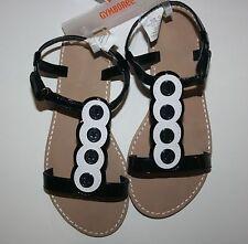 NEUF GYMBOREE Marguerite fille Park bouton noir sandales 1 enfant