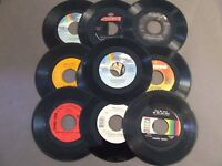 LOT OF 50, 45 RPM 7 INCH RECORDS FOR CRAFTS DECORATIONS FREE FAST SHIPPING