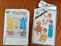 2 Vintage Infant Sewing Patterns Simplicity 7871 & Simplicity 5355 both are CUT
