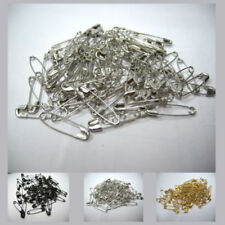 Small Safety Pins 0.7'' Metal Sewing Craft Mini Brooch Pins Pack 3 color