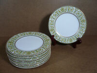 Kingston Fine China of Japan Set of 8 Bread Plates 3913 White Green Floral