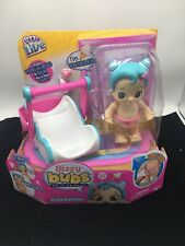 Little Live Bizzy Bubs Cute Carrier & Swirlee Baby Doll With Action & Sound NEW