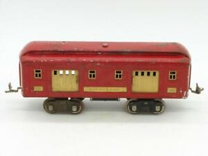 Lionel Prewar Standard Gauge Red 332 Baggage Car