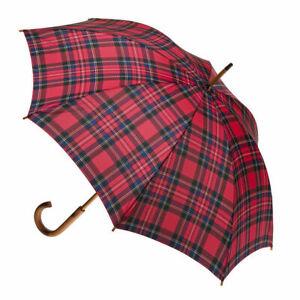 Manual Wood Umbrella Tartan Royal Stewart