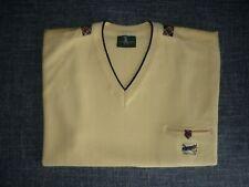 NAVIGARE-Royal Golf-Pullunder Herren ärmellos V-Neck Gelb 55% Merino Gr.3XL/2XL