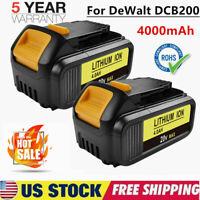 20Volt For DEWALT DCB206-2 20V MAX LITHIUM ION XR 5.0AH 2 PACK BATTERY DCB205-2
