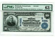 $10 1902 Pittsburgh Pennsylvania The Mellon NB PMG63 EPQ