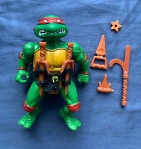 Teenage Mutant Ninja Turtles RAPHAEL 1988 Soft Head TMNT w/ Weapons Loose