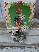 Enesco spot smudgy North Pole village Sandi zimnicki elf Dalmatian dog