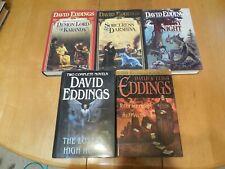 5 David Eddings Titles Hardcover w/jackets  Fantasy Adventure Fiction