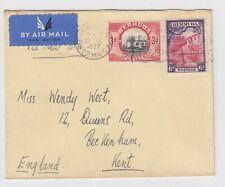 Bermuda 1937 Pacific Steam Navigation Coy Stationary Hamilton to Kent England