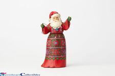 Jim Shore 4059002 Santa 15th Ann Musical Santa w/ Crystal Garland