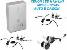 Kit luce illuminazione XENON LED bianco 6000 xeno.H1,H3,H4,H7,H8,H9,H11,HB3,HB4.