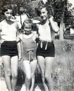 1916 Flapper Twin Young Women Swimsuits Seeing Double