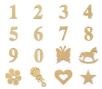 Full Number Set Large Wooden Numbers 8.5cm Wall Hanging Party Home Baby Birthday