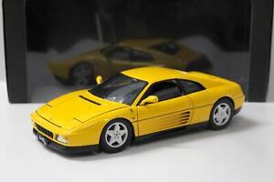 1:18 Hot Wheels Elite Ferrari 348tb Coupe yellow