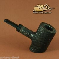 "Mr.Brog original smoking pipe nr.301 Black ""Cherrywood"" Hand carved sandblasted"